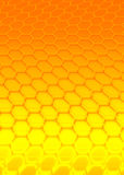Orange hexagon Stock Image