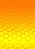 Orange hexagon stock image