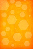 Orange hexagon background Stock Photo
