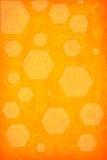 Orange hexagon background Stock Photo