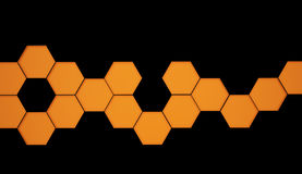 Orange hexagonal background Royalty Free Stock Photo