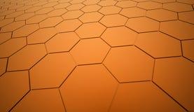Orange hexagonal background Royalty Free Stock Photos