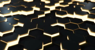 Orange Hexagonal Floor Loop stock footage