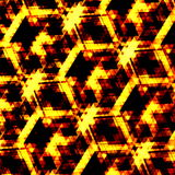 Orange hexagonal geometrical background. Image concept. Computer screen wallpaper pattern design. Unusual golden structure. Royalty Free Stock Image
