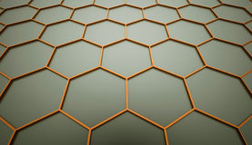 Orange hexagonal mesh Royalty Free Stock Images