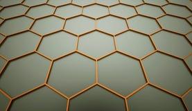 Orange hexagonal mesh Royalty Free Stock Images