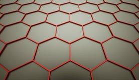 Orange hexagonal mesh Royalty Free Stock Image