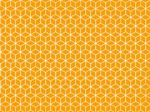 Orange hexagonal patterns Royalty Free Stock Images