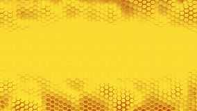 Orange hexagrid background with place for text or logo. Slow waves motion. Loop. stock video