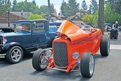Orange High-Boy Roadster Royalty Free Stock Image