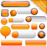 Orange high-detailed modern buttons. vector illustration
