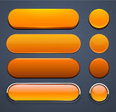 Orange high-detailed modern web buttons. Stock Images