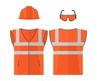 Orange high visibility vest Stock Image
