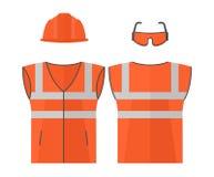 Orange high visibility vest Stock Image