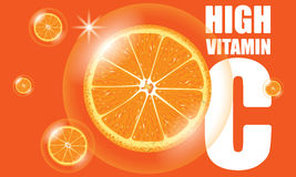 Orange High Vitamin C Vector Royalty Free Stock Photo