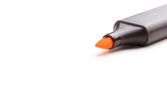 Orange highlighter pen isolated Royalty Free Stock Photo