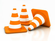 Orange highway traffic cone Stock Photography
