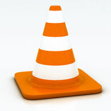 Orange highway traffic cone Stock Images