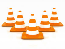 Orange highway traffic cone Royalty Free Stock Photography