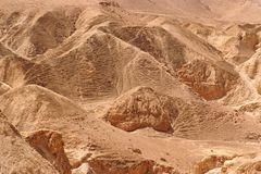 Orange hills in the desert texture Royalty Free Stock Images