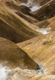 Orange Hills with steam Kerlingarfjoll Iceland Royalty Free Stock Photography