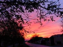 Orange Himmel stockbilder