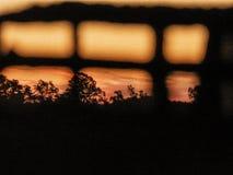 Orange Himmel lizenzfreies stockfoto