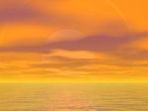 Orange Himmel Stockfotos
