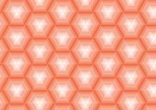 Orange Hintergrund in den Polygonen Lizenzfreies Stockbild