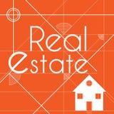 Orange Hintergrund für Immobiliengeschäft Lizenzfreies Stockbild