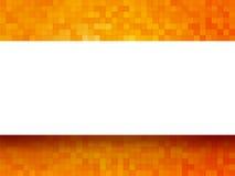 Orange Hintergrund mit Aufkleber Stockbild