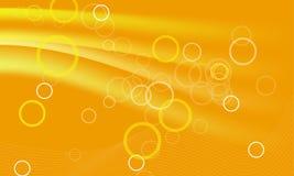 Orange Hintergrund mit circules Stockfotos
