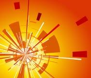 Orange Hintergrund mit Explosion lizenzfreie abbildung