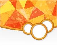 Orange Hintergrund mit Kreisen in der Schmutzart. Lizenzfreies Stockbild