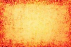 Orange Hintergrund mit Leinwandbeschaffenheit Lizenzfreie Stockfotografie
