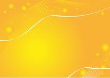 Orange Hintergrund mit Zeilen und Kugeln vektor abbildung