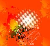 Orange Hintergrundauszug stock abbildung