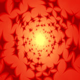 Orange hippie tunnel with dark red stars Royalty Free Stock Photography