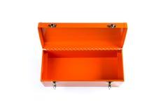 Orange hjälpmedelask som isoleras på vit bakgrund Arkivbild