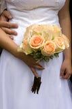 Orange Hochzeitsblumenstrauß Stockfoto