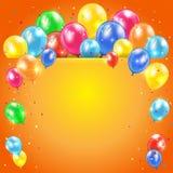 Orange holiday background Royalty Free Stock Image
