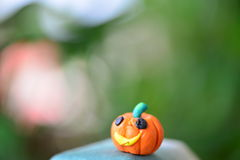 Orange holloween pumpkin with pin Stock Images
