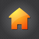 Orange home icon Royalty Free Stock Images