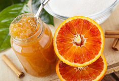 Orange homemade jam Stock Image