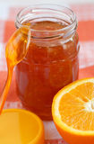 Orange homemade jam. Royalty Free Stock Image