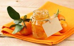 Orange homemade jam marmelade Stock Photos