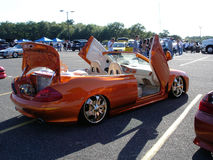 Orange honda royalty free stock photography