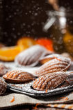 Orange and honey madeleines cookies Royalty Free Stock Photography