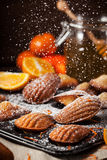 Orange and honey madeleines cookies Stock Photography