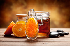 Orange and honey - Natural Spa Royalty Free Stock Photography